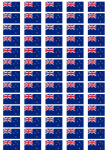 New Zealand Flag Stickers - 65 per sheet